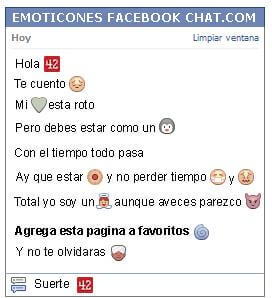 Conversacion con Emoticon 42 para Facebook