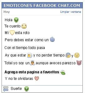 Conversacion con Emoticon alien para Facebook
