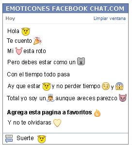 Conversacion con Emoticon angel para Facebook