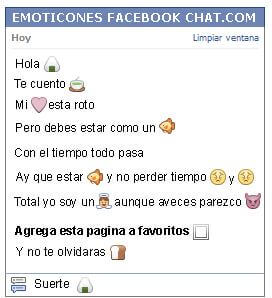 Conversacion con Emoticon arroz para Facebook