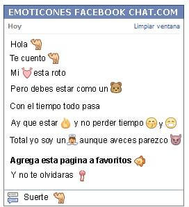 Conversacion con Emoticon camello para Facebook