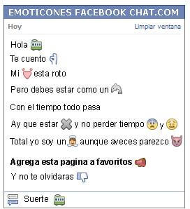 Conversacion con Emoticon carro de tren para Facebook