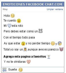 Conversacion con Emoticon desprecio para Facebook