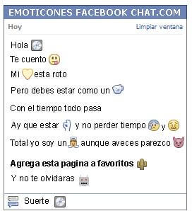 Conversacion con Emoticon disco para Facebook