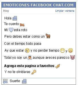 Conversacion con Emoticon edificio para Facebook