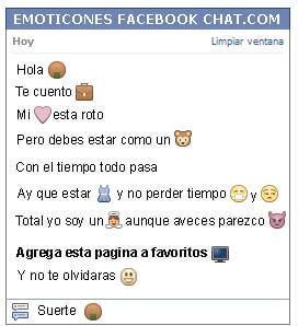 Conversacion con Emoticon galleta de arroz para Facebook
