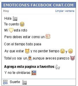 Conversacion con Emoticon industria para Facebook