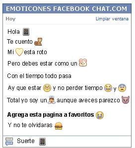 Conversacion con Emoticon iphone para Facebook