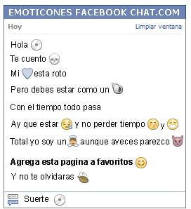 Conversacion con Emoticon musica cd para Facebook