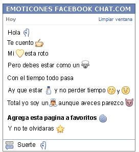 Conversacion con Emoticon ok para Facebook