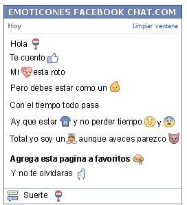 Conversacion con Emoticon parada de bus para Facebook