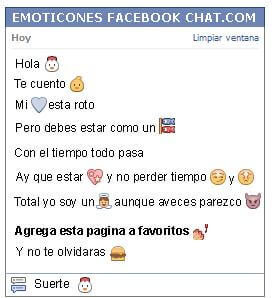 Conversacion con Emoticon pollo para Facebook