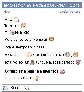 Conversacion con Emoticon puppy para Facebook
