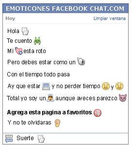 Conversacion con Emoticon water para Facebook