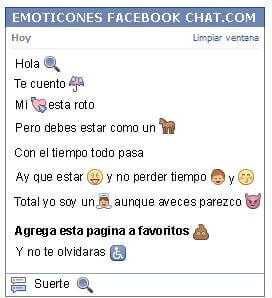 Conversacion con Emoticon zoom para Facebook